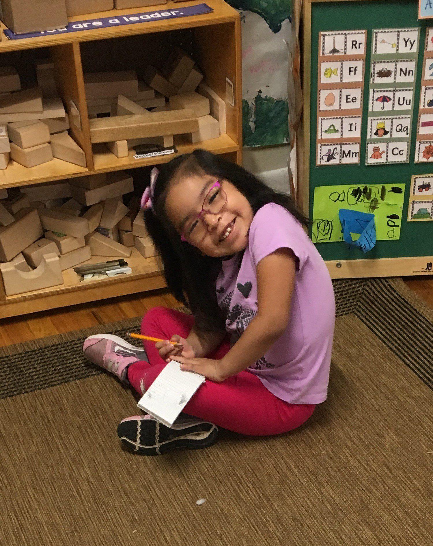 Karla enjoying her glasses!